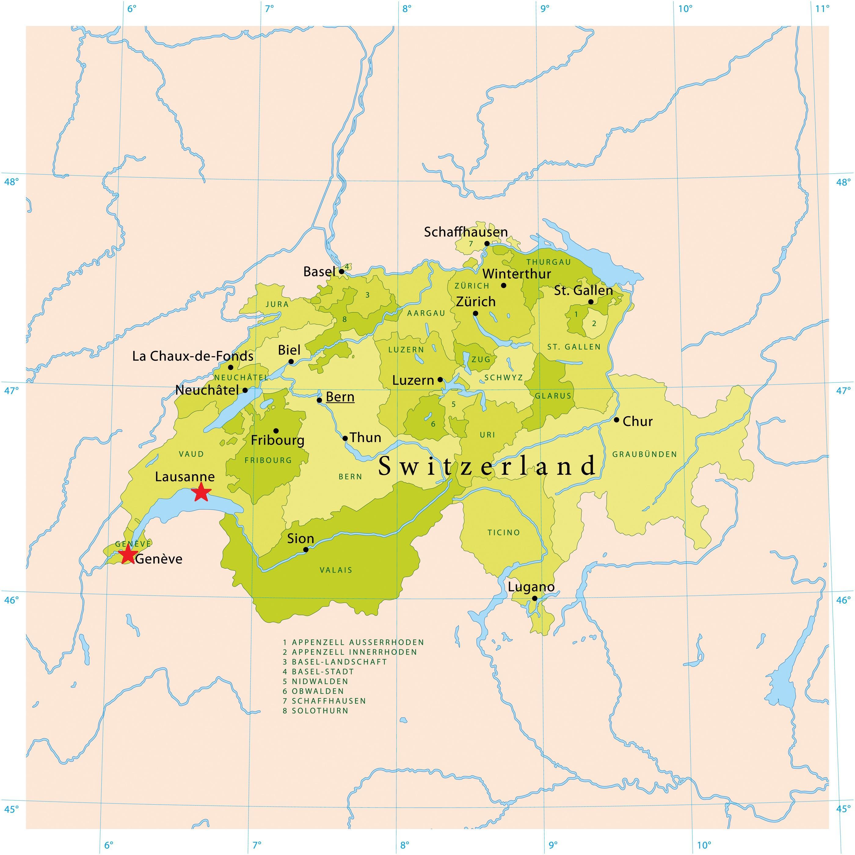 kart stadt Lake geneva, sveits kart   Kart over lake geneva, sveits (Vest  kart stadt